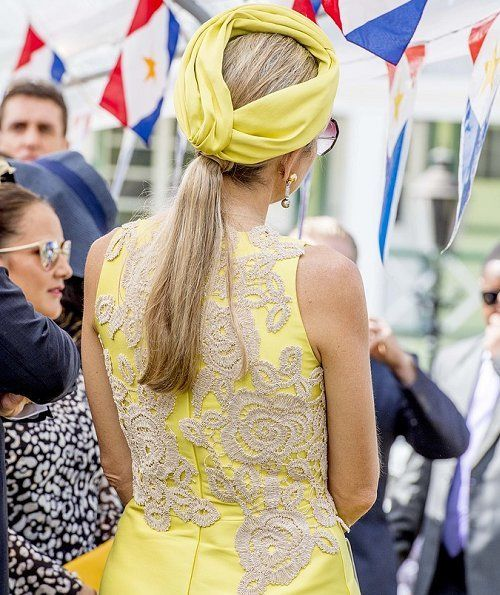 King Willem-Alexander and Queen Maxima attend the Saba Day