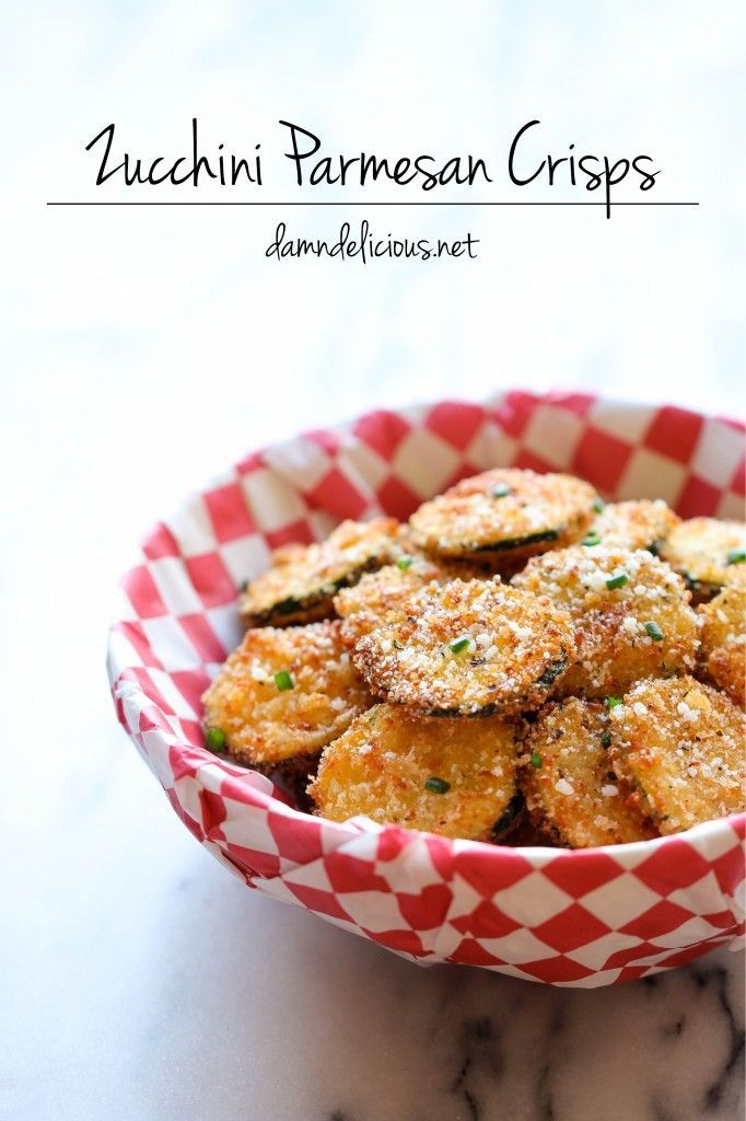 Zucchini Parmesan Crisps - A healthy snack that's incredibly crunchycrispy and addicting!