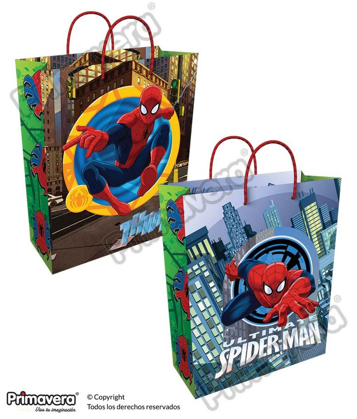 Bolsa Regalo Spiderman http://envoltura.papelesprimavera.com/product/bolsa-regalo-personajes-spiderman-4/
