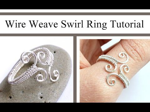 Wire Weaving Jewelry Tutorial : Adjustable Swirl Ring : Wire Wrapped - YouTube
