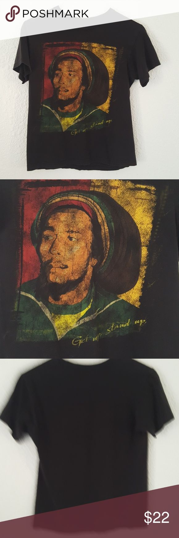 "Vintage Bob Marley Rasta Graphic Tee T-shirt S Awesome vintage t- shirt. Features da man himself Bob Marley. Men's size small. Chest 34"", length 23"". Bob Marley Shirts Tees - Short Sleeve"
