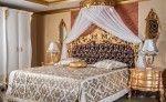 set tempat tidur gold ukir