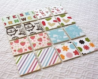 More matching ideas and fun site with kid activity ideas!  Do this with family photos on dollar store coasters...