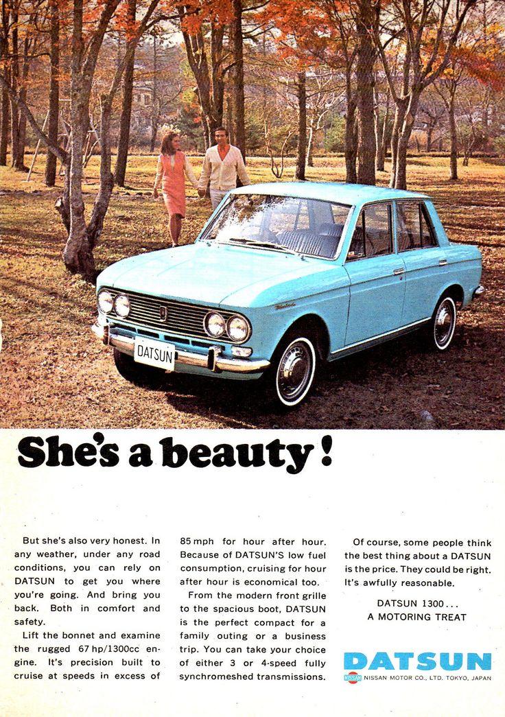 https://flic.kr/p/DX8tPA   1967 Datsun 1300 4 Door Nissan Aussie Magazine Advertisement