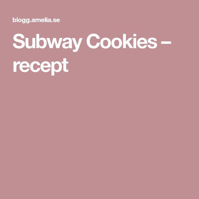 Subway Cookies – recept