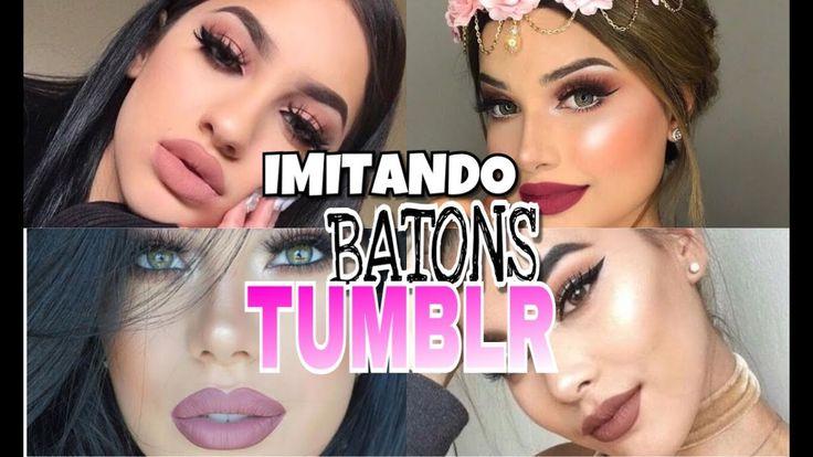 IMITANDO BATONS TUMBLR (BATONS BARATINHOS)💋💋💋