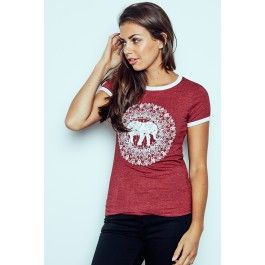 Elephant Graphic Ringer Tee