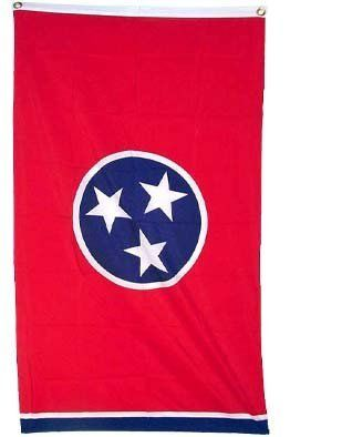 "New 2x3 Tennessee State Flag US USA American Flags by NationalCountryFlags. $5.32. Double sewn edges for durability. Lightweight and great for hanging inside and out doors. Brand new 2' x 3' (24"" x 36"") Super-Polyester Tennessee State flag. Includes 2 Brass grommets for hanging!. The flag of Tennessee consists of three stars in a circle on a field of red, with a strip of blue on the fly. The flag was designed by a soldier named LeRoy Reeves of the Third Regiment, Tenne..."