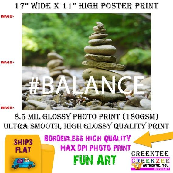 11x17 Poster Photo Print Art Cairn Rocks Balance Poster Landscape Orientation High Quality Glossy Smooth Photo Print Poster Prints Poster Art Prints