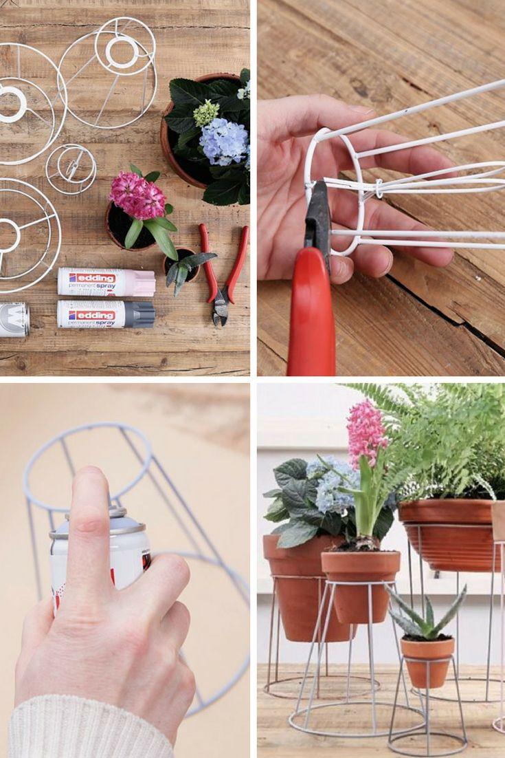Vous êtes à la recherche d'idées pour mettre en valeur vos plantes ? Découvrez ce tutoriel pour fabriquer facilement vous-même un support pour plante qui change de l'ordinaire.