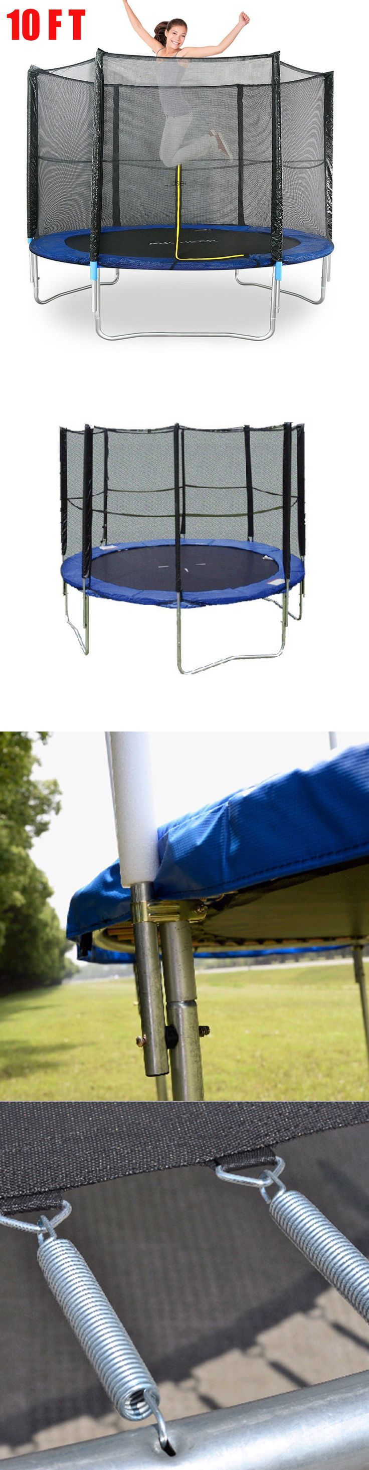 Trampolines 57275: Super Jumper 10 Ft. Trampoline With Enclosure, Blue, 9 - 13 Foot Oy -> BUY IT NOW ONLY: $163.95 on eBay!