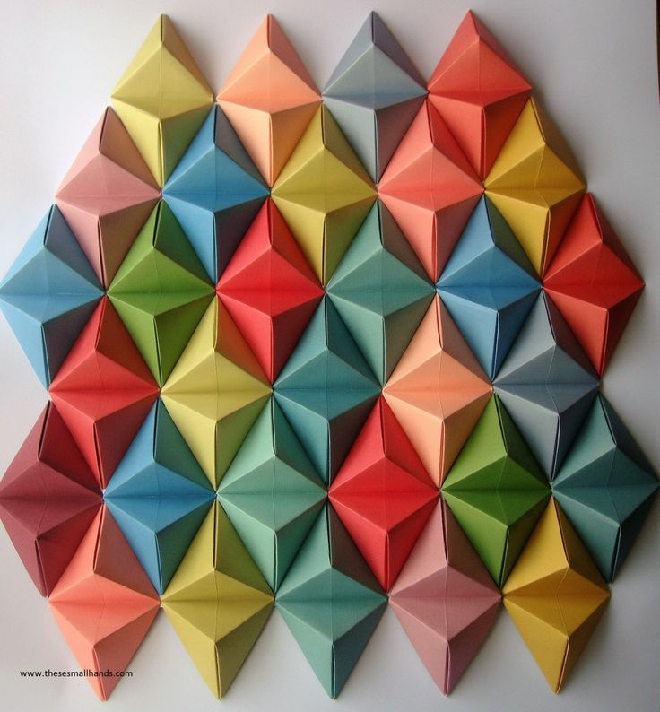 Large Origami Wall Art by thesesmallhands on Etsy