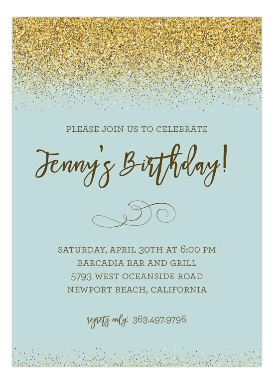 gold glitter and mint invitation bridal shower invitations