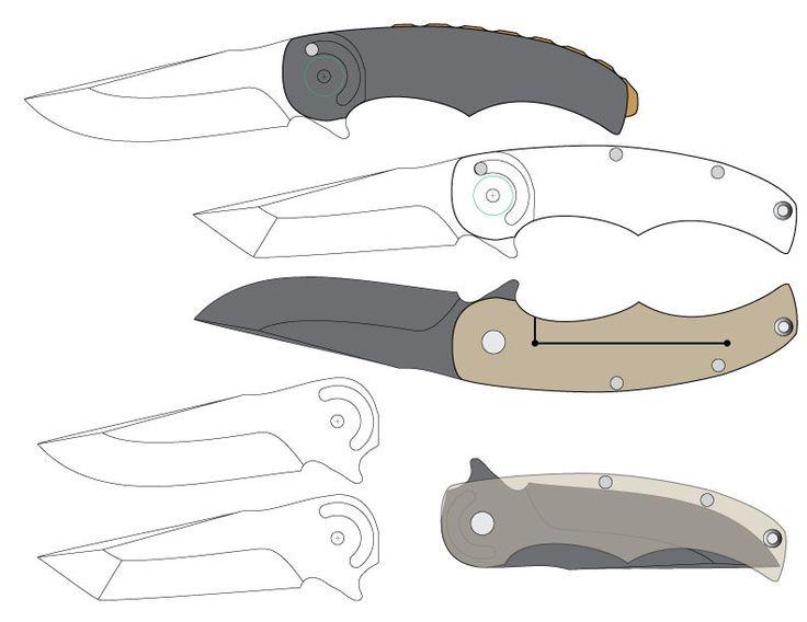 Смотреть картинки схемы складных ножей
