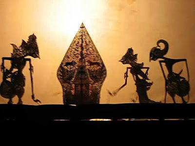 Indonesian shadow puppets theatre