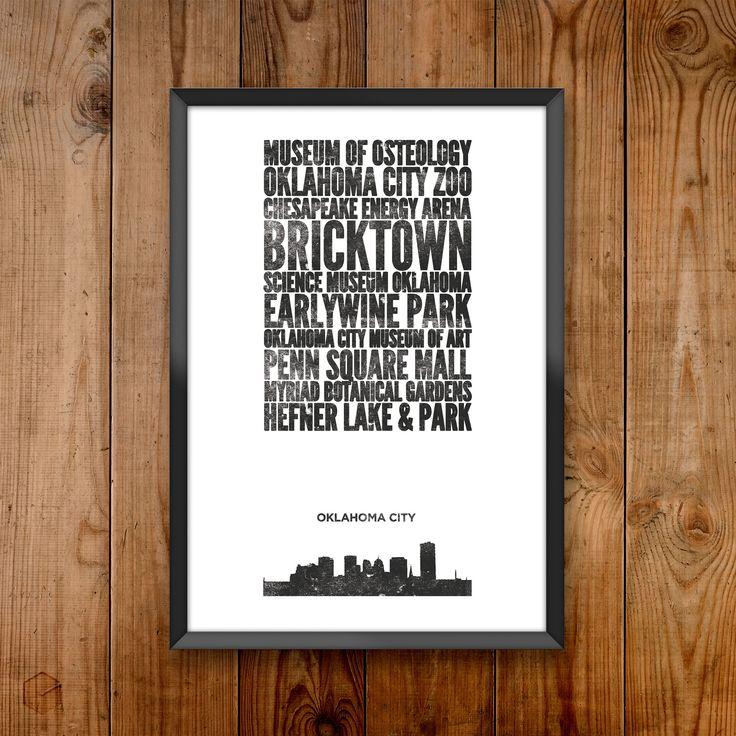 Oklahoma City City Print