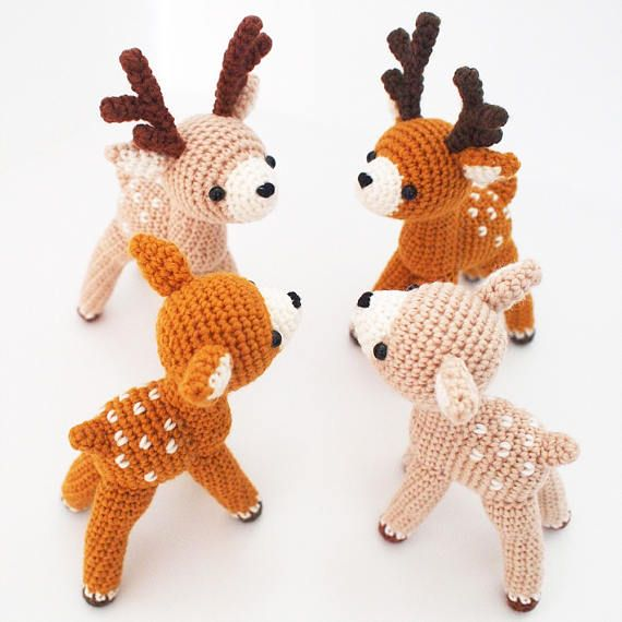 Crochet Doll Amigurumi Pattern Deer ZoO series toy