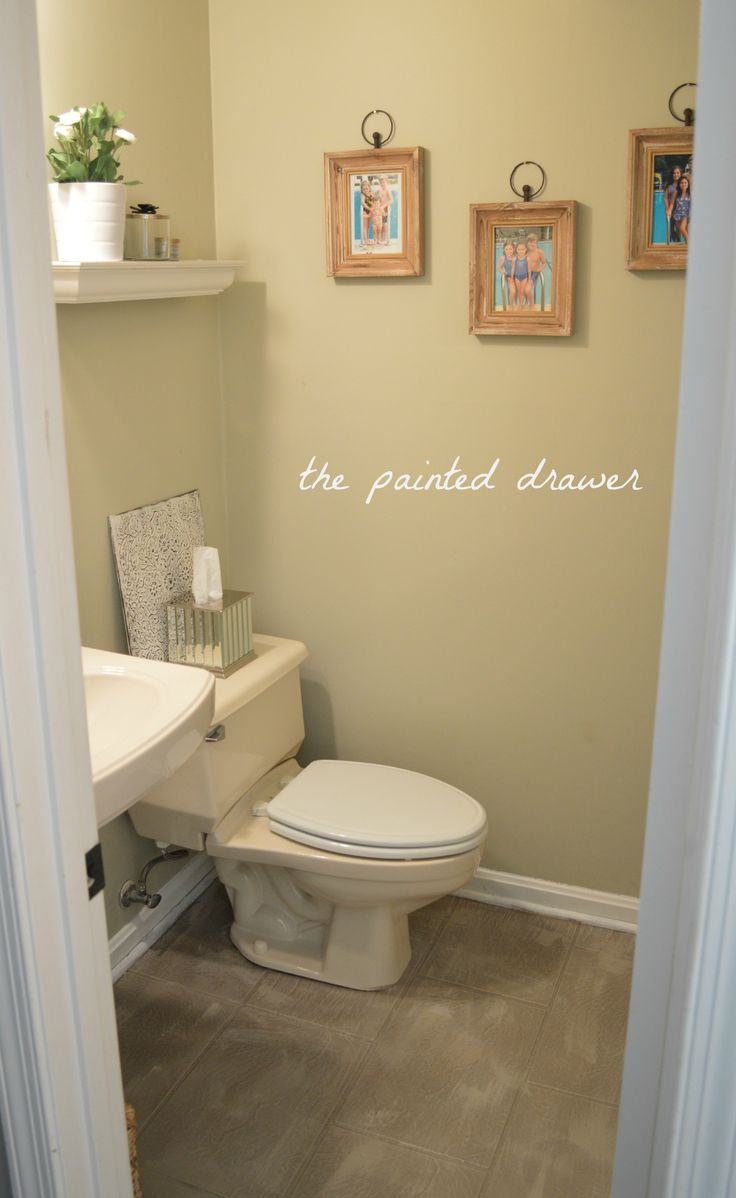 Painted linoleum floor bath pinterest painted for Paint for linoleum floors in bathroom