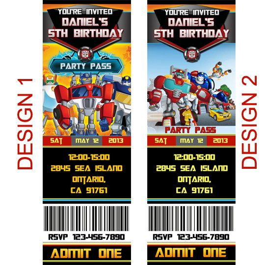 91 best Alexs 4th Birthday images – Free Printable Transformers Birthday Invitations