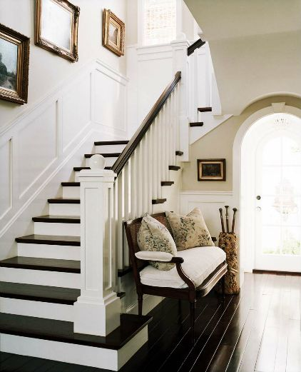 stair case flare out------- black staircase ideas | Trend Alert: Painted Stairs [inspiration] | Picklee