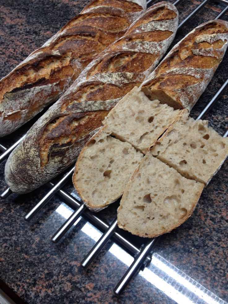 Bake of the day: Rustic #Raimugido baguettes for the breakfast.