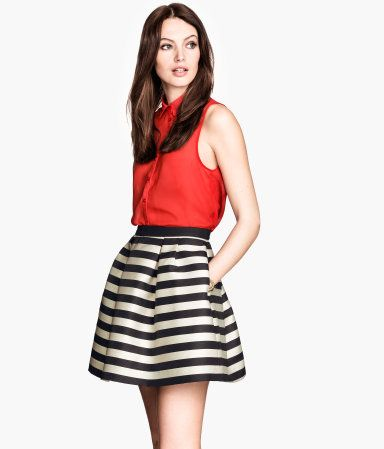 Black and White stripes! Awesome with a pop of red...