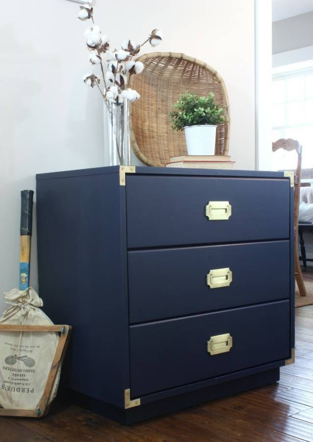 Dismal To Dashing Navy Blue Campaign Dresser Boxwood Spruce