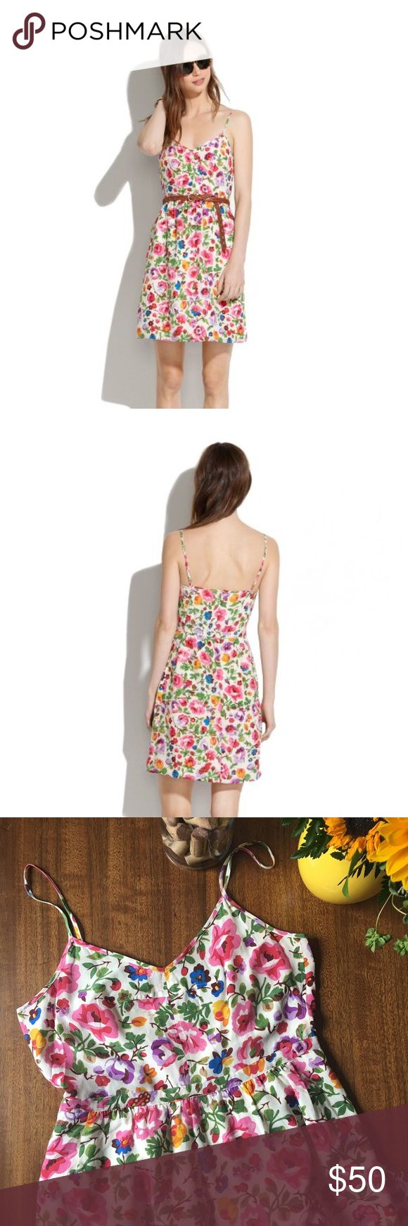 """MADEWELL • Silk Cami Dress in Flora Madewell Silk Cami Dress in Flora • Currently Sold Out Online • Retail : $155 • Fitted at Waist • Falls 35 3/8"""" from bodice • Zipper Back & Clasp • Pockets!! (see ) • Silk • Like New • Size 10 •• Get It In Time for Spring!!! ☀️ Madewell Dresses"""