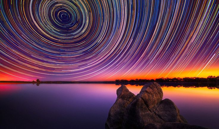 Photographer endures 15-hour shoots in the wintry Australian outback to snare stunning images of star trails in the night sky (it's from the Daily Mail - sorry)