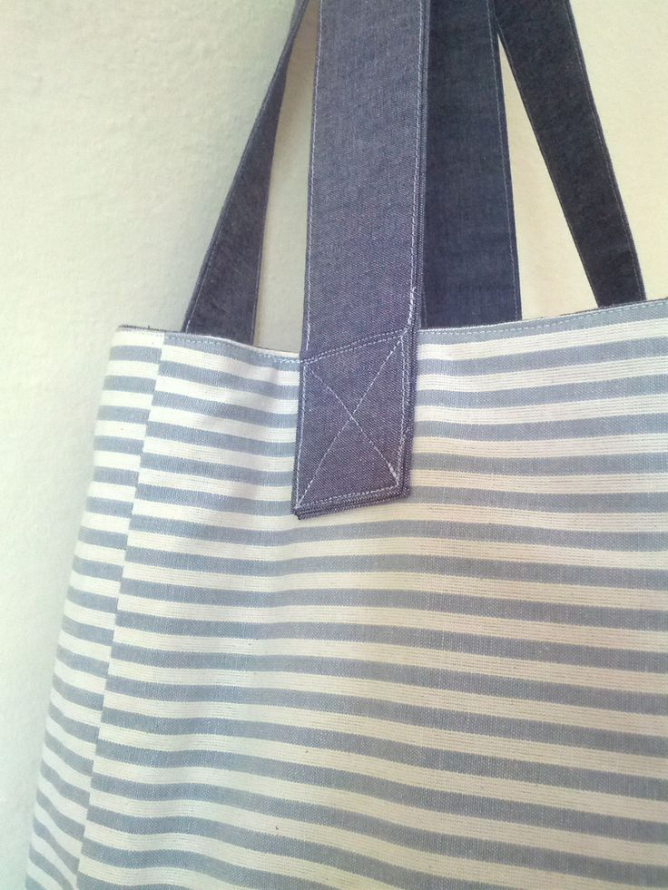 Cotton canvas beach bag grocery bag