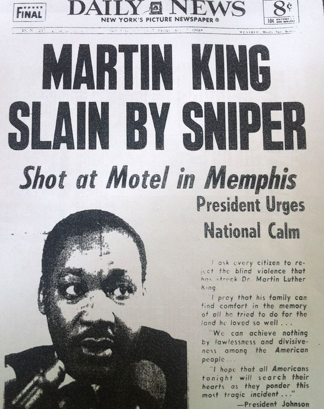 MLK Assassination in the New York Daily News