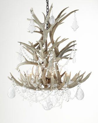 Stag+Chandelier+by+Ralph+Lauren+at+Horchow.