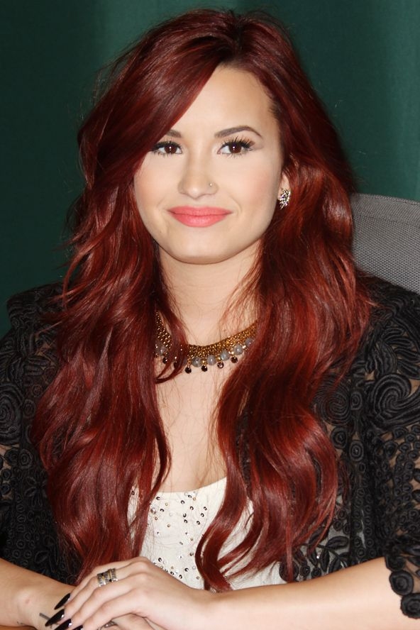 @Madison Chivington  Demi Lovato's fiery red waves - Next Hair Project!