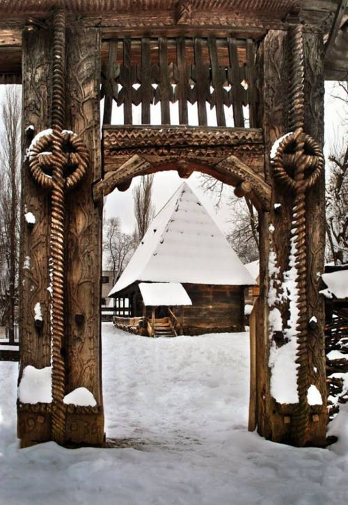 Wooden Gate from Berbesti, Maramures County, Romania