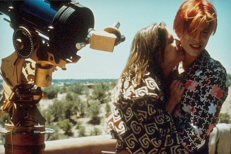1975 - Candy Clark as Mary-Lou and David Bowie as Thomas Newton in The Man Who Fell To Earth.