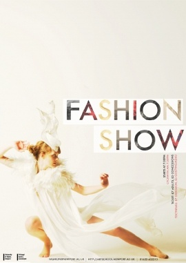 Fashion Show Poster BLOG-01. Love the white space.
