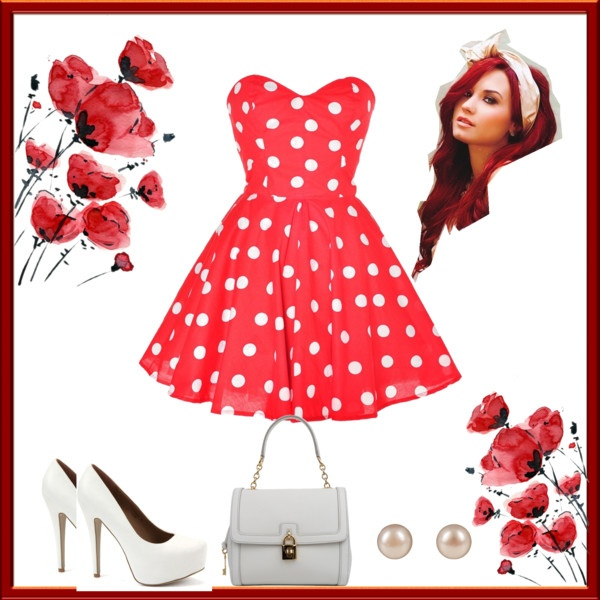 """polka dots"" by homeyyomey on Polyvore"