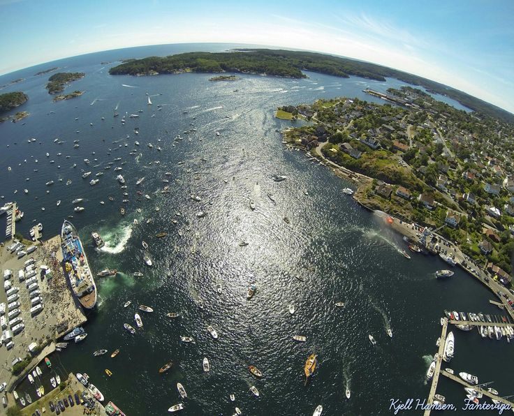 Lillesand, Norway from above