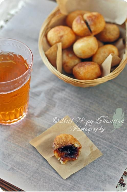 Indonesian Cassava Fritters Stuffed with Coconut Sugar