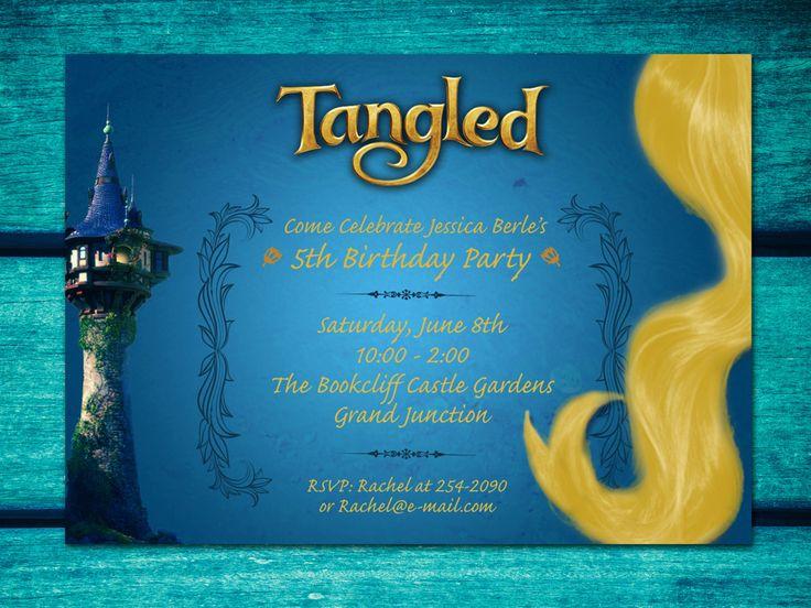 Invitaciones de fiesta de Rapunzel de enredados descarga