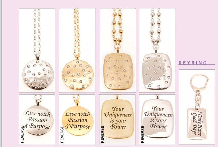 """Live with passion and purpose!""    Jewelry that will keep you inspired all day and everyday!"