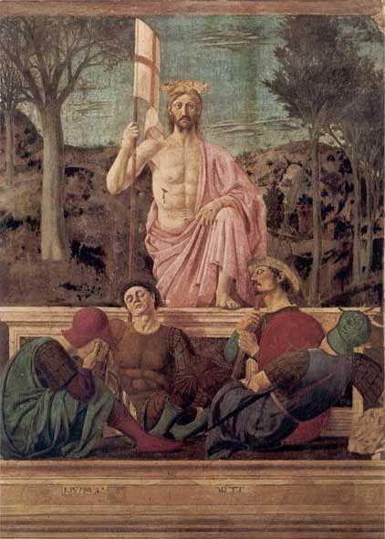 'Resurrezione' (ca.1460) by Piero della Francesca