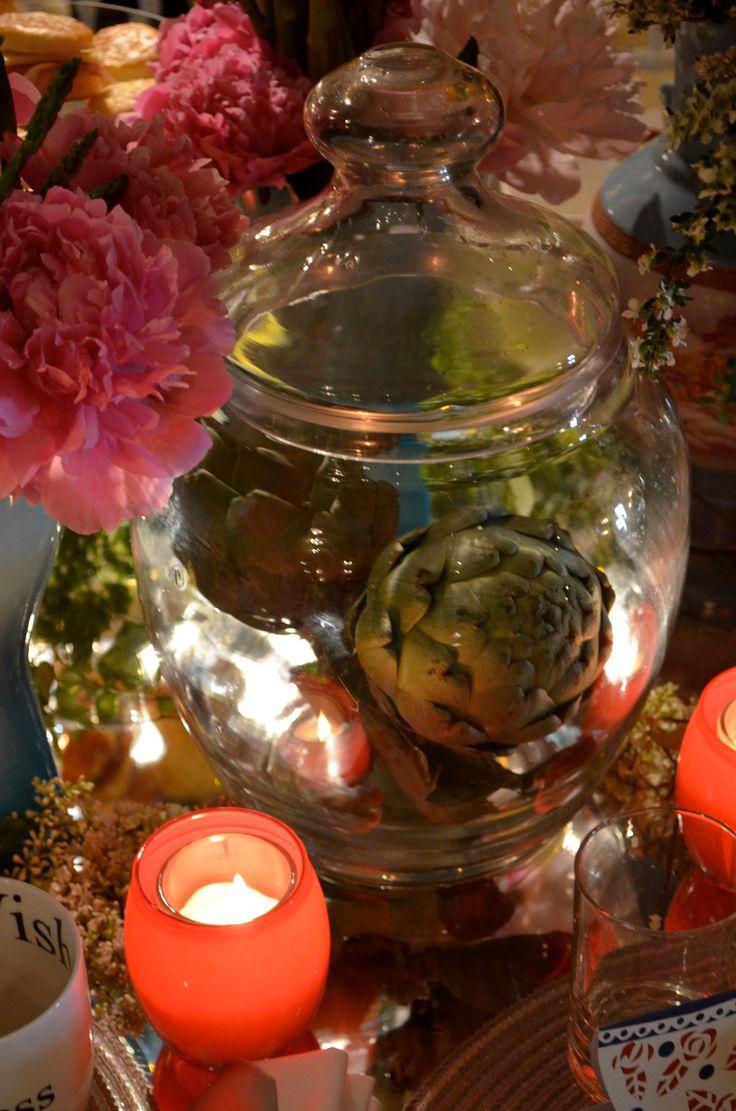 Centros de mesa originales y arreglos de mesa con verduras for Mesas de boda originales