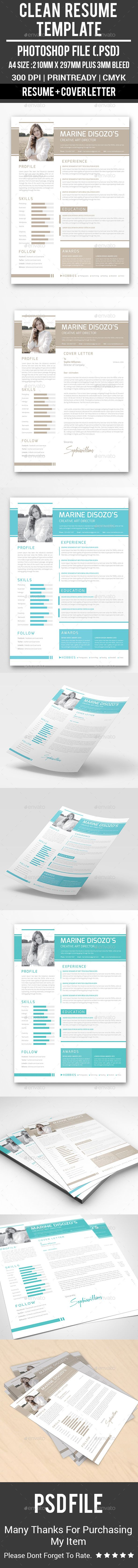Clean Resume Template PSD                                                                                                                                                                                 More