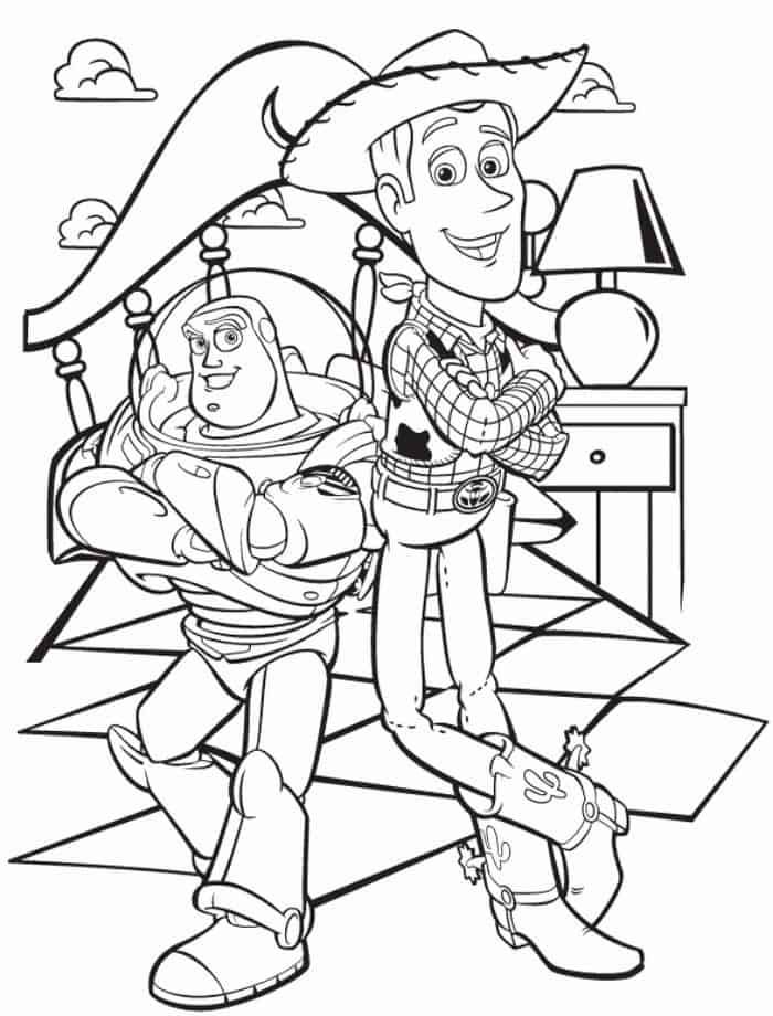 Toy Story Coloring Pages Buzz And Woody Toy Story Coloring Pages Cartoon Coloring Pages Dinosaur Coloring Pages