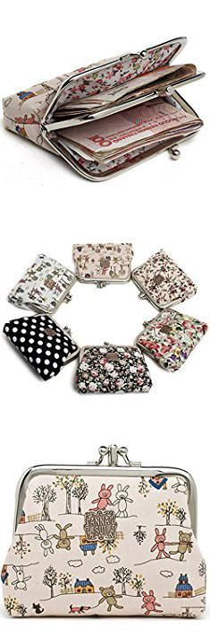 Anna Sui Bags. AnnaSui Women Floral Exquisite Clasp Coin Purse Cards Case Flowers Print Wallet For girls (Pink Bear).  #anna #sui #bags #annasui #suibags