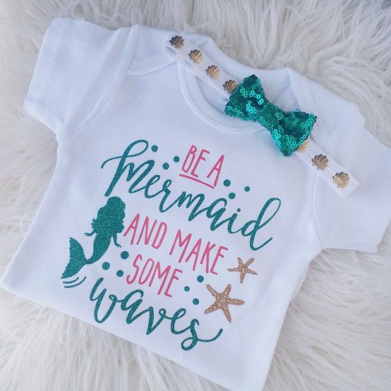 Hey, I found this really awesome Etsy listing at https://www.etsy.com/listing/398341955/be-a-mermaid-little-mermaid-outfit-baby