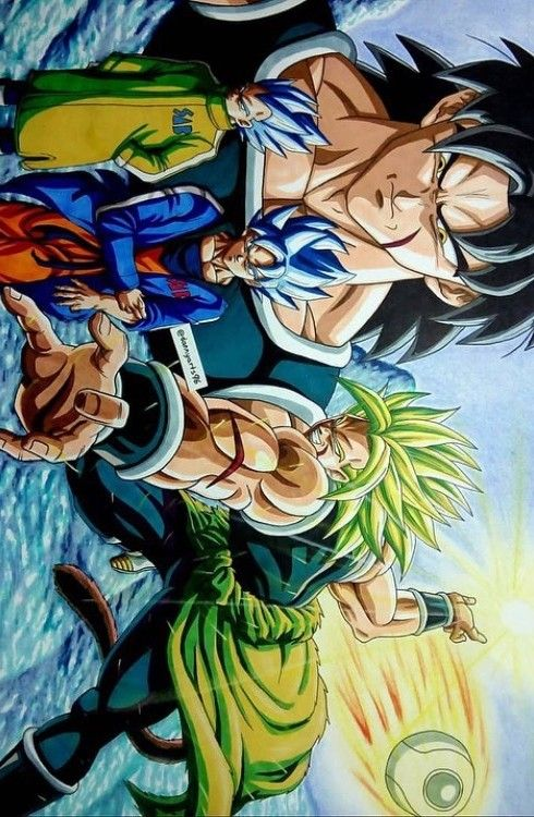 Broly vs goku dragon ball dbz gt pinterest art and goku - Broly dragon ball gt ...