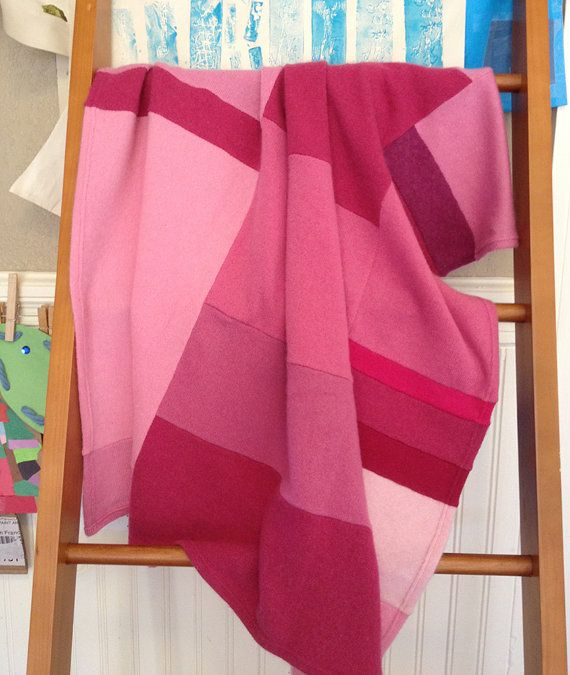pink cashmere blanket by goodsbysaraanning on Etsy, $325.00