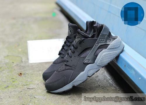 Nike #Air #Huarache Running Shoes Black/Dark Grey